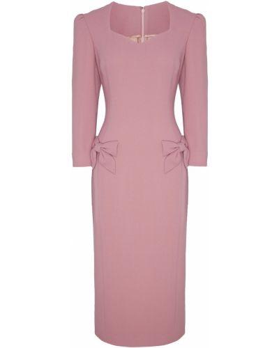 Платье розовый шерстяное Ulyana Sergeenko