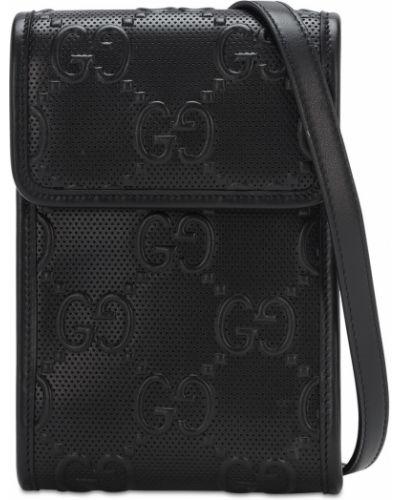 Bawełna z paskiem torba na ramieniu z prawdziwej skóry z gniazdem Gucci