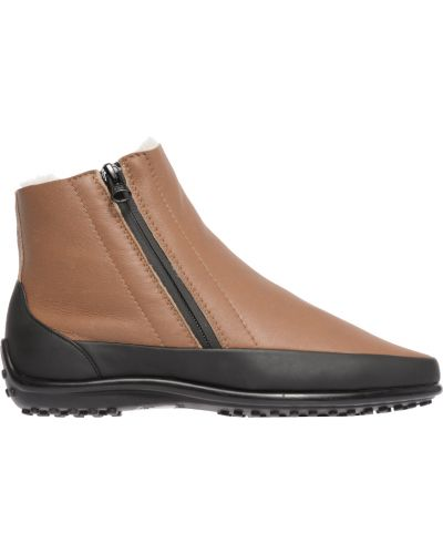 Кожаные ботинки осенние бежевые Pakerson
