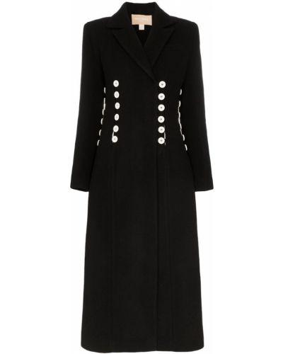 Приталенное шерстяное белое длинное пальто Matériel