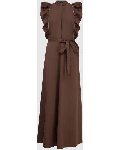 Коричневое платье макси Peserico