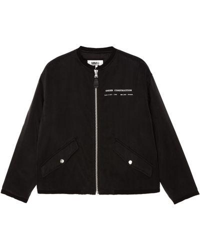 Куртка черная с надписью Mm6 Maison Margiela