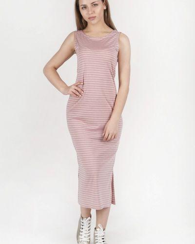 Розовое платье миди Vergans