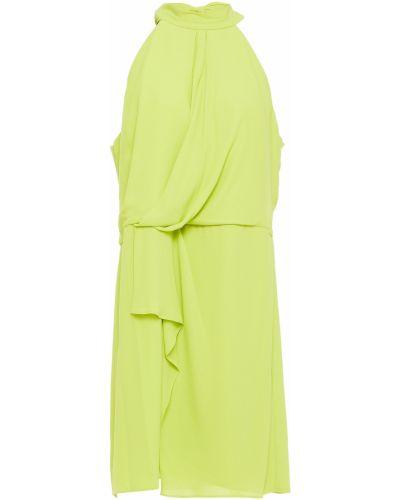 Зеленое платье на крючках Halston Heritage