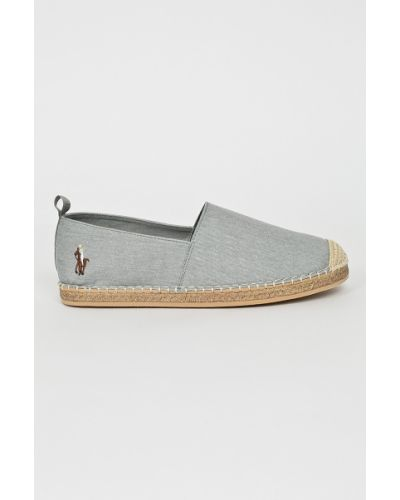 Эспадрильи серые Polo Ralph Lauren