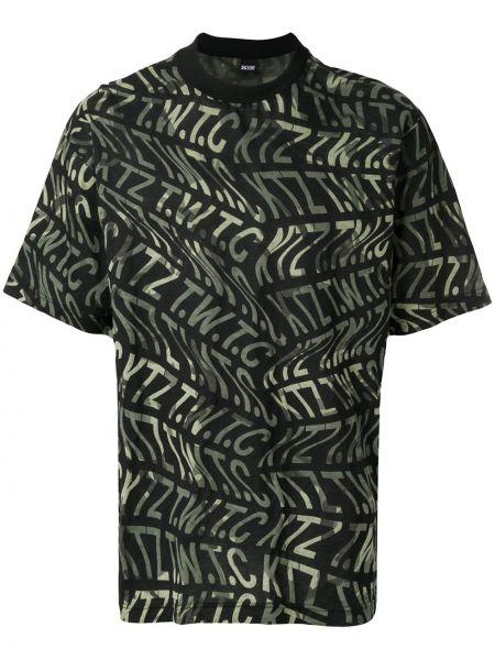 Хлопковая футболка - черная Ktz