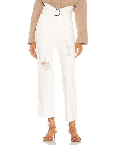 Klasyczne białe jeansy bawełniane Marissa Webb