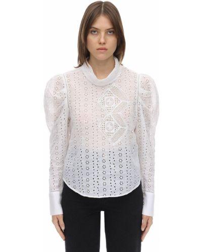 Рубашка с высоким воротником - белая Isabel Marant