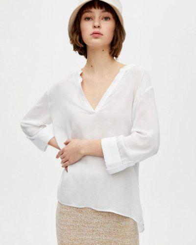 Блузка с длинным рукавом белая Pull&bear