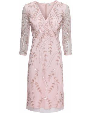 Вечернее платье розовое облегающее Bonprix