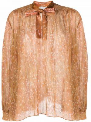 Шелковая блузка - оранжевая Forte Forte