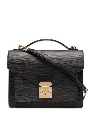 Czarna torba na ramię skórzana Louis Vuitton