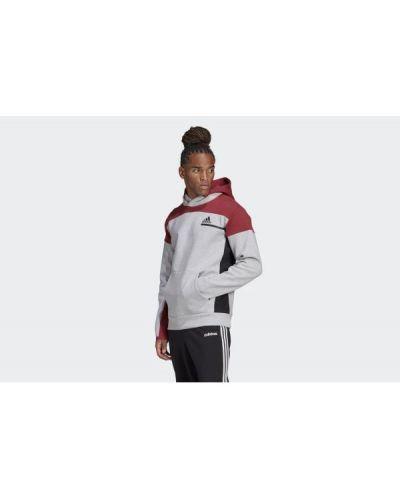 Szary pulower z kapturem Adidas