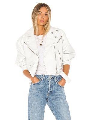 Biała kurtka skórzana miejska Lamarque