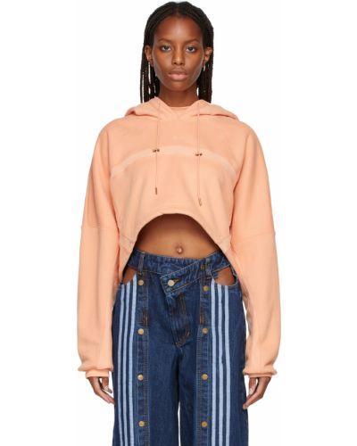 Оранжевое махровое худи Adidas X Ivy Park