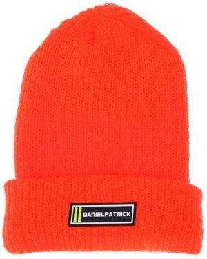 Prążkowany pomarańczowy czapka beanie z akrylu Daniel Patrick