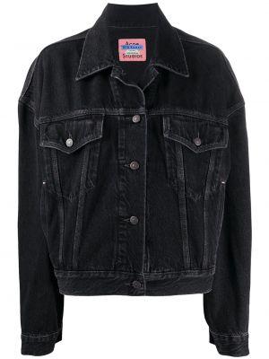 Джинсовая куртка черная длинная Acne Studios