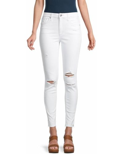 Зауженные белые джинсы-скинни с карманами Joe's Jeans
