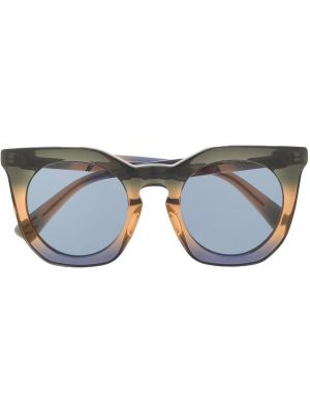 Муслиновые черные солнцезащитные очки круглые Diesel