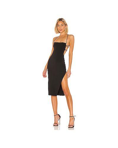 Платье миди на шнуровке черное Nbd