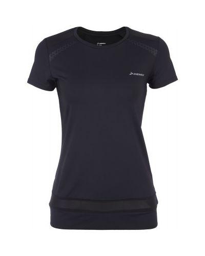 Спортивная футболка черная для фитнеса Demix