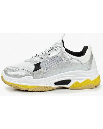 Кожаные кроссовки - серебряные Dino Albat