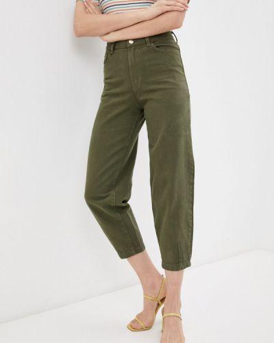 Прямые брюки хаки Marks & Spencer