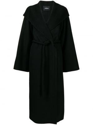 Шерстяное пальто - черное Goen.j