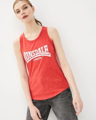 Красный топ Lonsdale
