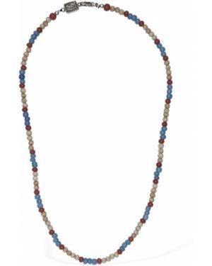 Niebieski naszyjnik srebrny Cantini Mc Firenze