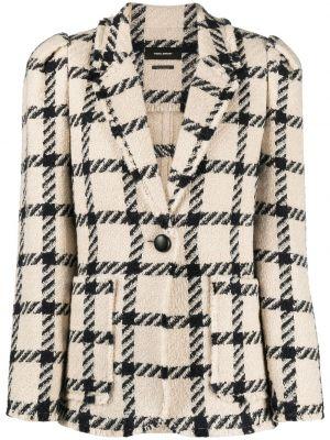 Пиджак в клетку на пуговицах с подкладкой Isabel Marant