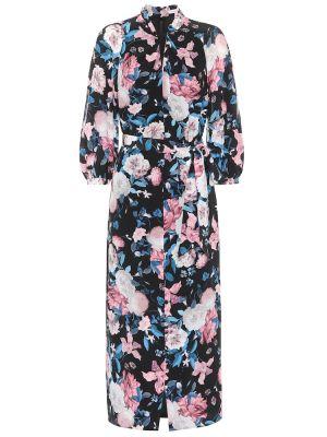 Платье мини миди с цветочным принтом Erdem