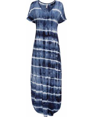 Платье макси синее Bonprix