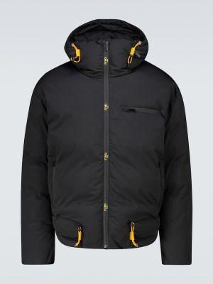 Брендовая желтая пуховая куртка Fendi