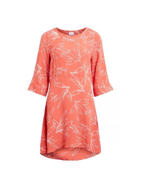 Платье мини с цветочным принтом с вырезом Vila