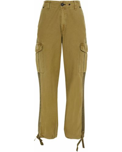 Zielone spodnie w paski bawełniane Rag & Bone