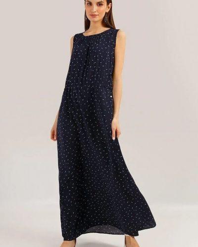 Платье макси в пол - синее Finn Flare