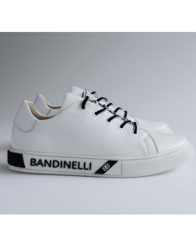Кожаные кеды - белые Bandinelli