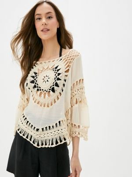 Блузка с коротким рукавом весенний бежевый Nothing But Love