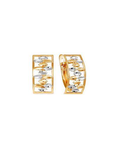 Золотые серьги кюз дельта