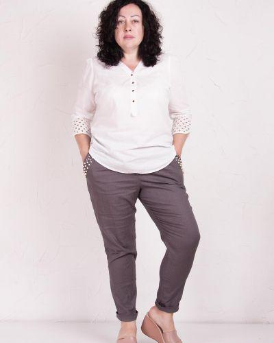 Льняные брюки - серые Losinelli