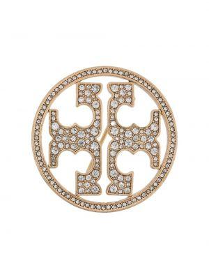 Broszka kryształ ze złota Tory Burch