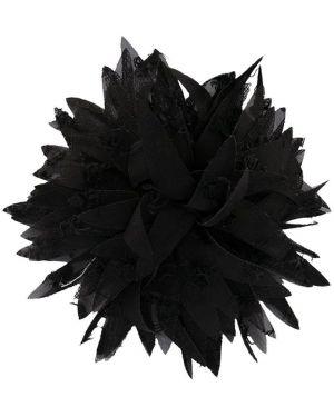 Черная брошь из фатина Caffe' D'orzo