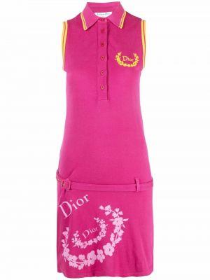 Różowa sukienka bez rękawów Christian Dior