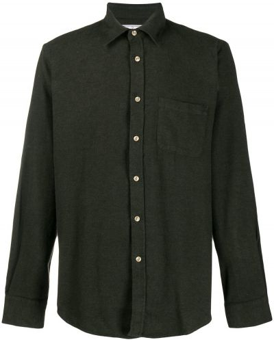 Классическая желтая фланелевая классическая рубашка с воротником Portuguese Flannel