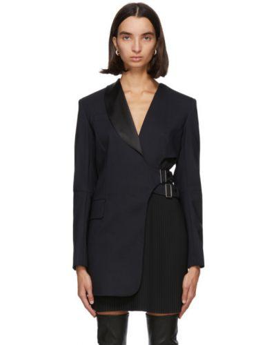 Шерстяное с рукавами черное платье макси Sportmax