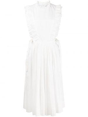 Белое платье без рукавов Sandy Liang