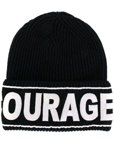 Вязаная шапка бини с отворотом Versace