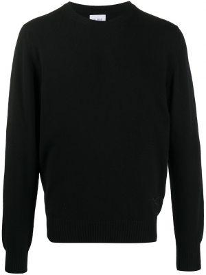 С рукавами кашемировый черный джемпер с вышивкой Barrie
