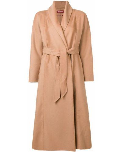 Пальто с поясом - бежевое Max Mara Studio